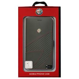 便利雑貨 アルファロメオ iPhone7 Plus専用PUレザー手帳型ケース Synthetic Leather Ultra Slim Flip Case 4C collection Black AR-SSHFCIP7P-4C/D2-BK