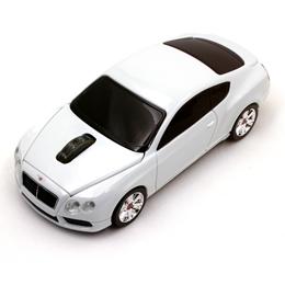 お役立ちグッズ Bentley Continental GT V8 2.4G無線マウス 1750dpi ホワイト BT-GTV8-WH
