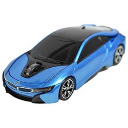 お役立ちグッズ BMW i8シリーズ 無線カーマウス 2.4Ghz 1750dpi ブルー BM-Pi8-BL