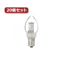 照明器具関連 ローソク形LEDランプ電球色E12クリア20個セット LDC1LG23E12X20