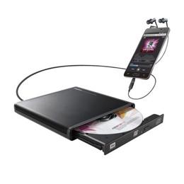 DVDドライブ Android用CD録音ドライブ/USB2.0/Type-C変換アダプタ付属/ブラック LDR-PMJ8U2RBK