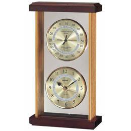 お役立ちグッズ 温・湿度・時計 EX-742 ゴールド