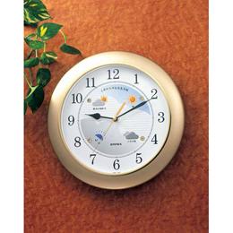 お役立ちグッズ 掛け時計 ウォールクロック ウェザーパル BW-5048 シャンパンゴールド
