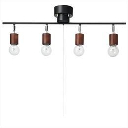 流行 生活 雑貨 ウッドヌード4灯シーリングライト電球なし Y07CEX60X01DW