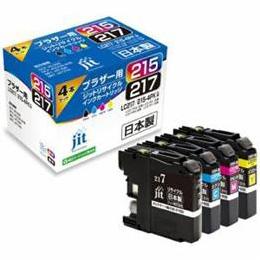 便利雑貨 互換プリンターインク 4色セット JIT-B2172154P