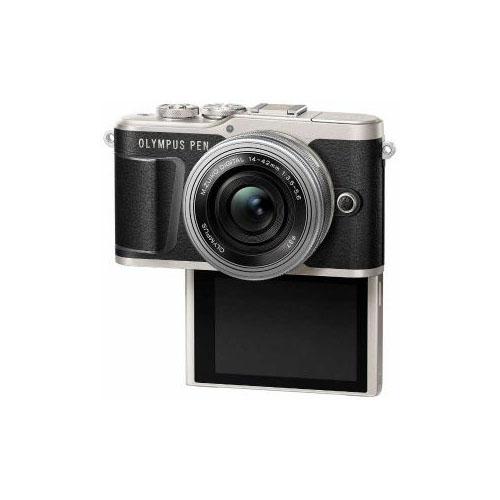 便利雑貨 デジタル一眼カメラ「PEN E-PL9」14-42mm EZレンズキットブラック PEN-E-PL9・14-42mm-EZ
