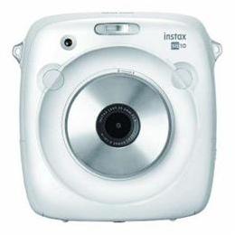 便利雑貨 インスタントカメラ instax SQUARE SQ 10 「チェキ」ホワイト INSTAXSQUARESQ10W
