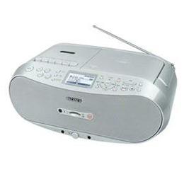 便利雑貨 CDラジオカセットコーダー (シルバー) CFD-RS501-C