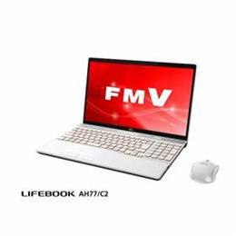 便利雑貨 ノートパソコン FMV LIFEBOOK AH77/C2 プレミアムホワイト FMVA77C2W