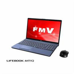 便利雑貨 ノートパソコン FMV LIFEBOOK AH77/C2 メタリックブルー FMVA77C2L