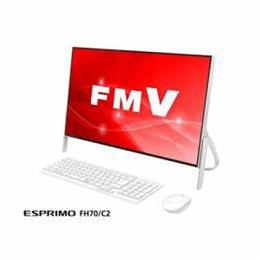 便利雑貨 デスクトップパソコン FMV ESPRIMO FH70/C2 ホワイト FMVF70C2W