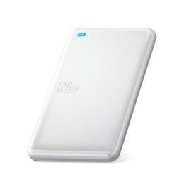 便利雑貨 外付けSSD/ポータブル/USB3.1(Gen1)対応/120GB/ホワイト ESD-ED0120GWH