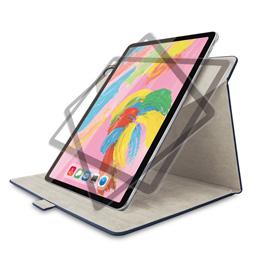 便利雑貨 iPad Pro 11インチ 2018年モデル/フラップカバー/ソフトレザー/360度回転/ブルー TB-A18M360BU