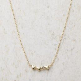 便利雑貨 ルーシールーシー ダイヤモンド トリプルハートネックレス M81016214