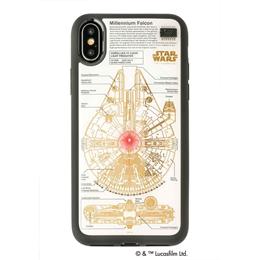 流行 生活 雑貨 STAR WARS スター・ウォーズ グッズコレクション FLASH M-FALCON 基板アート iPhone Xケース 白 F10W