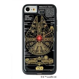 便利雑貨 STAR WARS スター・ウォーズ グッズコレクション FLASH M-FALCON 基板アート iPhone 7/8ケース 黒 F7/8B