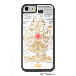 iPhone関連 STAR WARS スター・ウォーズ グッズコレクション FLASH M-FALCON 基板アート iPhone 7/8ケース 白 F7/8W