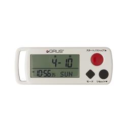 歩幅・心拍計測 歩数計 時計機能付 GRS002-01