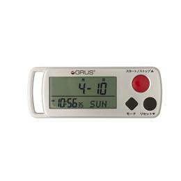 歩幅・心拍計測 歩数計 時計機能付 GRS002-02
