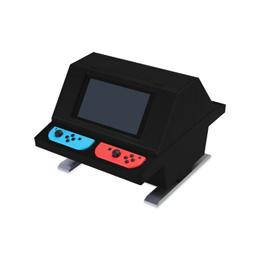 便利雑貨 Switch用 対面型アーケードスタンド ブラック CC-NSTAS-BK