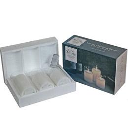 生活関連グッズ LXA Japan Exclusif LEDグラスキャンドル Lサイズ (3本セット) GC3-100