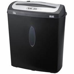 日用品 便利 ユニーク ナカバヤシ クロスカットシュレッダー (A4サイズ/CD・DVD・カードカット対応) NSE-207BK