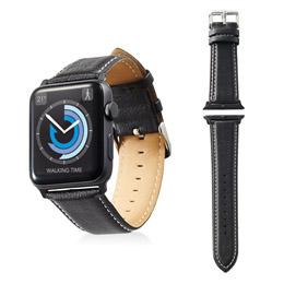 スマートフォン関連 Apple Watch 42mm/ソフトレザーバンド/ラウンドボートタイプ/ブラック AW-42BDLRBBK