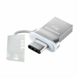 便利雑貨 USB 3.1 Gen1 Type-C⇔Type-A 両コネクター搭載USBメモリー 64GB U3C-HP64G