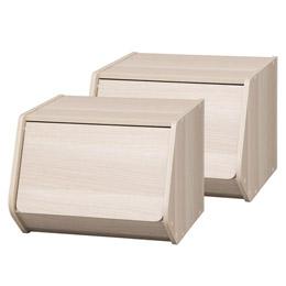 便利雑貨 スタックボックス扉付き 2個セット M80709515