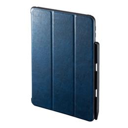 便利雑貨 iPad9.7インチケース Apple Pencil収納ポケット付き PDA-IPAD1014BL