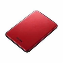 便利雑貨 USB3.1(Gen1)/USB3.1 ポータブルHDD 1TB レッド HD-PUS1.0U3-RDD