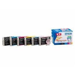 便利雑貨 インクカートリッジ 6色セット(小容量タイプ) IC6CL51