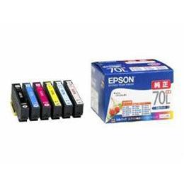 便利雑貨 インクカートリッジ 6色セット(増量タイプ) IC6CL70L