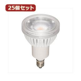 日用品 便利 ユニーク YAZAWA 25個セット ハロゲン形LEDランプ4.3W電球色60°調光対応 LDR4LWWE11DX25