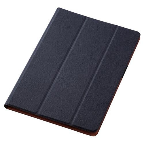 日用品 便利 ユニーク エレコム iPad 10.2 2019年モデル/フラップケース/イタリア製高級ソフトレザー/2アングル/薄型/ネイビー TB-A19RWDTNV