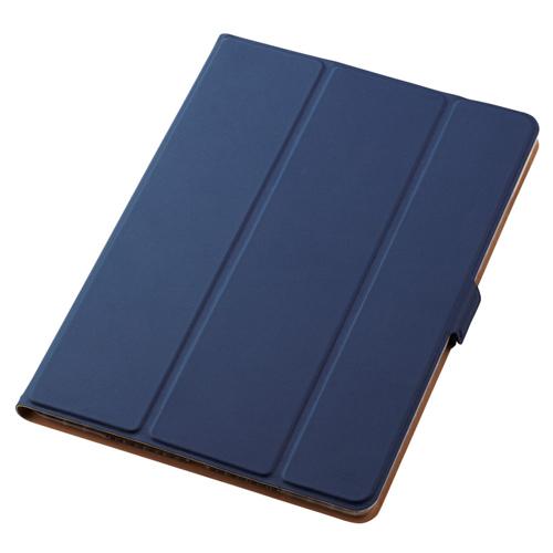 流行 生活 雑貨 iPad 10.2 2019年モデル/フラップケース/ソフトレザー/360度回転/スリープ対応/ネイビー TB-A19RWVSMNV