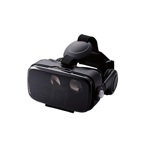 流行 生活 雑貨 VRゴーグル ヘッドホン一体型 DMM1000円相当ポイント付与シリアル付 ブラック VRG-DEH01BK