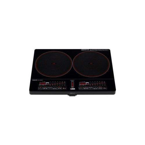 単四電池 3本 付き2口IH調理器 ブラック アイデア 便利 アイテム勢ぞろい オンラインショッピング な全国一律 YEK-1456G 送料無料 2口IH調理器 お得 グッズ