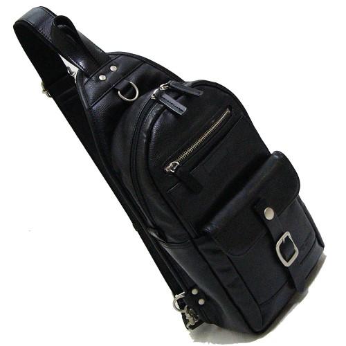 ボディバッグ ワンショルダー 雨や汚れに強くお手入れも簡単 おでかけ V.S.ボディーバッグ違いの分かる大人へ… 日本製 ブラック