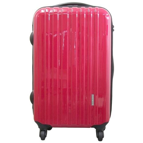 旅行 キャリーバッグ まるでフレームタイプの様なしっかりとした剛性感があります。 バッグ・鞄・かばん まるでフレームタイプの様な剛性感!!TSAロック付ポリカーボネートキャリーバッグ M レッド