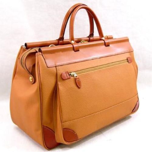 ボストンバッグ 旅行 バッグ ショルダーベルト付属 役立つ マリエラ天棒ボストンバッグ トラベルバッグ本革付属 キャメル