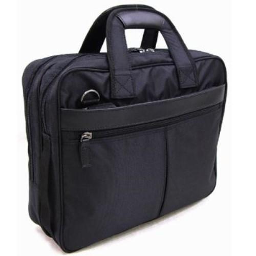 ビジネスバッグ メンズ キャリーバーに固定することが出来るパイプスルー仕様 おでかけ 軽量撥水 ヴェルツェ 本革付属軽量ビジネスカジュアルバッグ ブラック