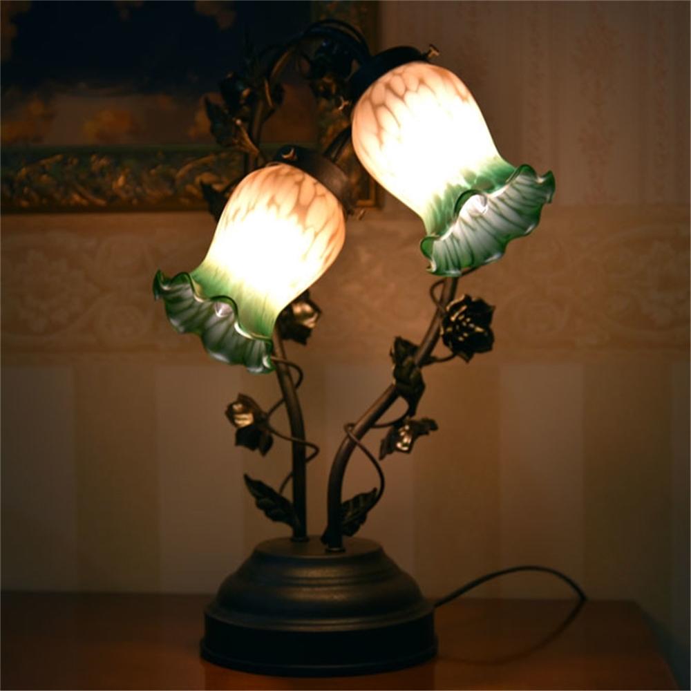 テーブルライト デスクランプ こもれる灯り グリーンブッド2灯タッチランプ