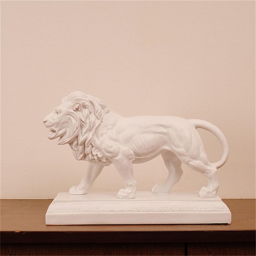 置き物 オーナメント 動物 動物置物 デザイン:ライオン