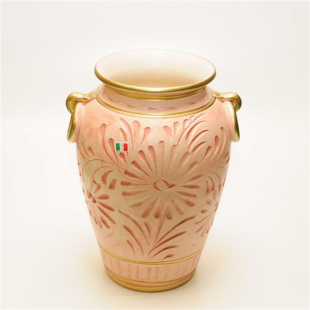 傘立 アンブレラスタンド リング付き 陶器かさ立て リング付 カラー:サーモンピンク