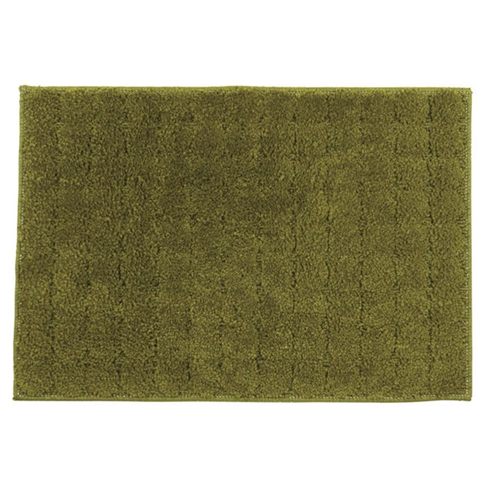 mat シンプル 立体的 ぽこぽこ製法 ラグ&マット カラー:グリーン サイズ:130×185cm