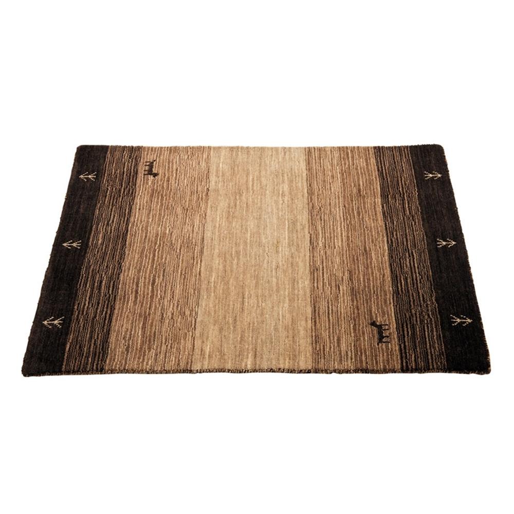 ラグマット 絨毯 手洗いOK ギャベ柄 ラグ・マット カラー:ブラウン サイズ:60×90cm