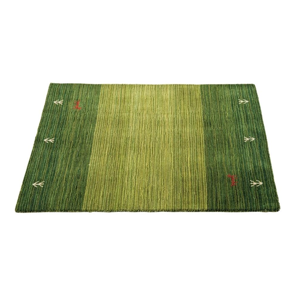 ラグマット カラフル ギャベ ギャベ柄 ラグ・マット カラー:グリーン サイズ:50×80cm