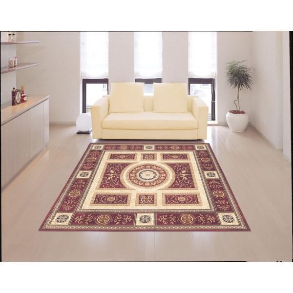 絨毯 滑らかでしなやかな肌ざわり お洒落 ラグ・マット 200×290cm レッド