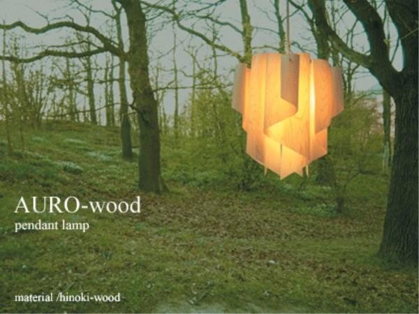 天井照明 吊り照明 インテリアライト 透明感 のある オーロラ を イメージ した デザイン グラデーション に思わずみとれてしまいそう アウロウッド ペンダントランプ Auro-wood Mサイズ